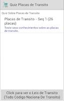 Screenshot of Quiz Placas de Transito