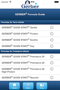 GERBER® Formula Guide- screenshot thumbnail