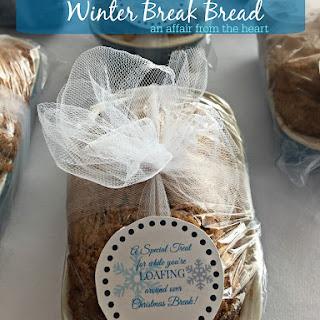 Christmas Spiced Streusel Banana Bread / Gift Idea / Printable Tag