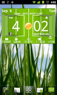 Football Digital Weather Clock - screenshot thumbnail