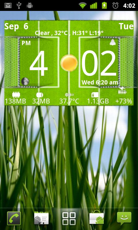 Football Digital Weather Clock- screenshot