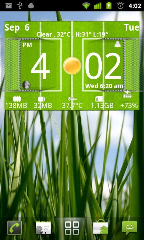 Football Digital Weather Clock - screenshot