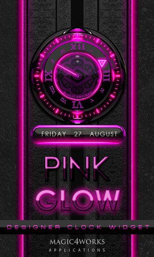 Pink Glow Magic Clock Widget