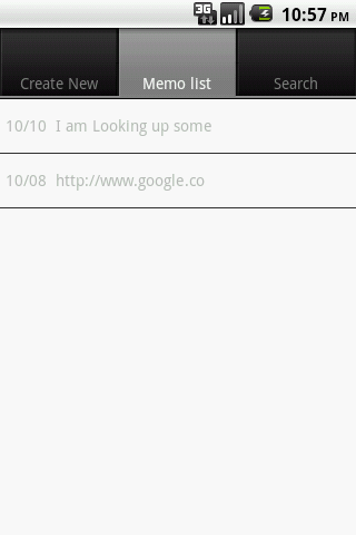 Memoq (Memo Quick)- screenshot