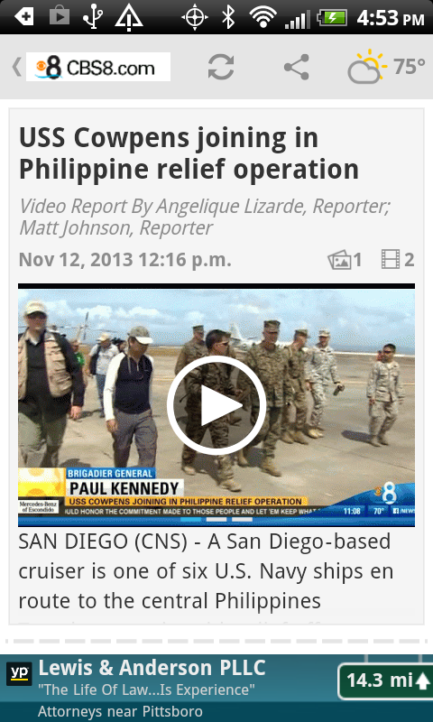 CBS 8 - San Diego News - screenshot