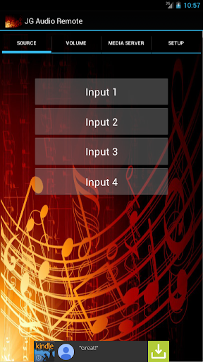 JG Bluetooth Audio Remote