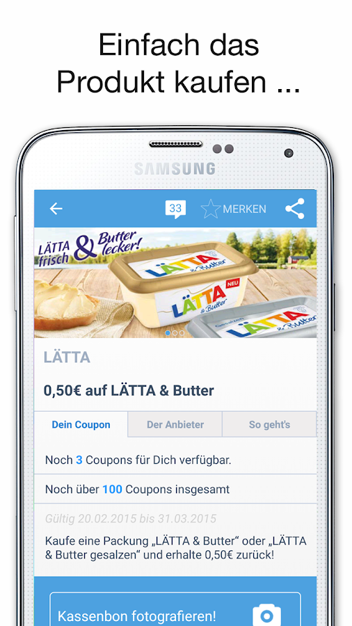 COUPIES Coupons im Supermarkt - screenshot