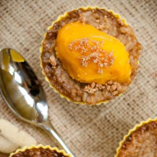 Biko Cupcakes with Mango Sorbet – Gluten-Free Filipino Dessert.