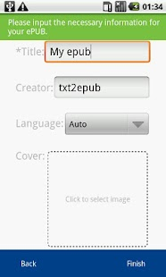 TXT2ePUB - screenshot thumbnail
