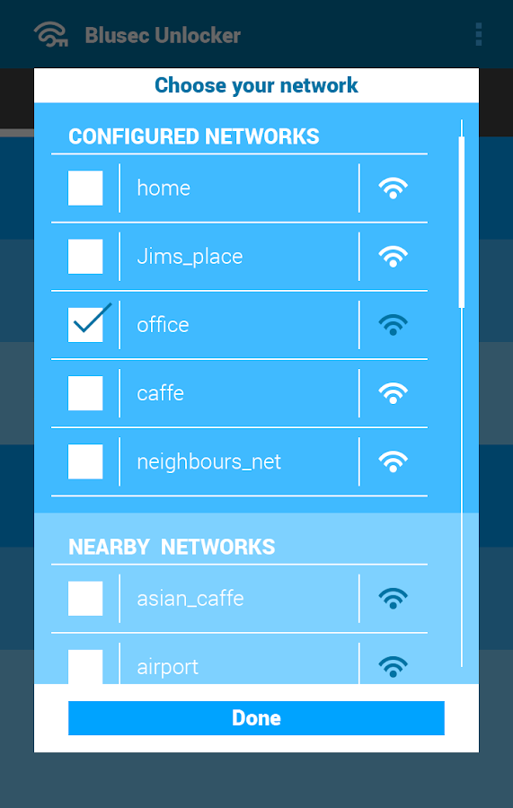 Blusec WiFi Bluetooth Unlocker - screenshot