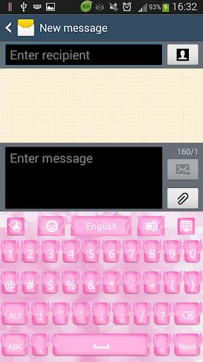玩免費個人化APP|下載粉红天使键盘 app不用錢|硬是要APP