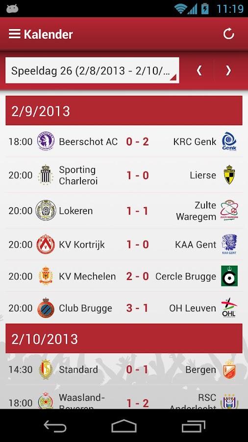 Jupiler Pro League - screenshot