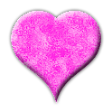 Pink heart battery icon