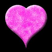 Pink heart battery