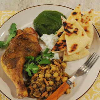 Indian-Spiced Chicken with Lentils and Chickpeas.