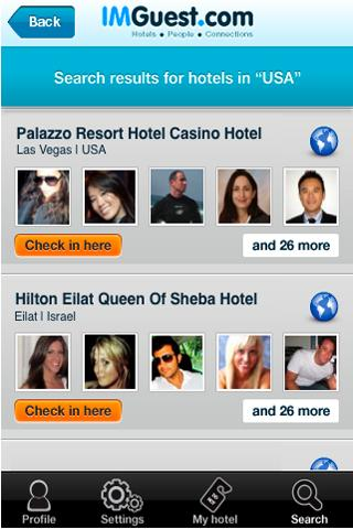 IMGuest - Hotel Social Network- screenshot