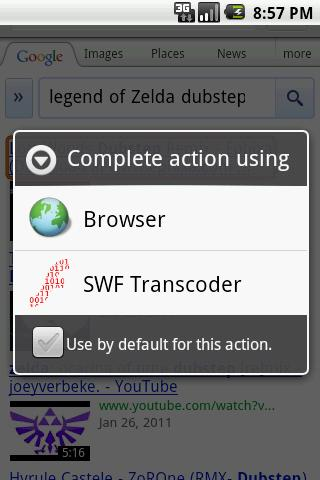 SWF Transcoder - screenshot