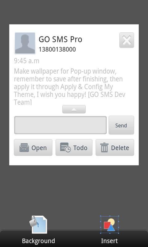 GO SMS Pro Theme Maker plug-in screenshot #4