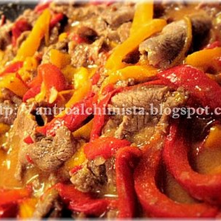Stracetti—Beef Strips with Bell Peppers Recipe