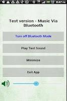 Screenshot of Test Music Via Bluetooth