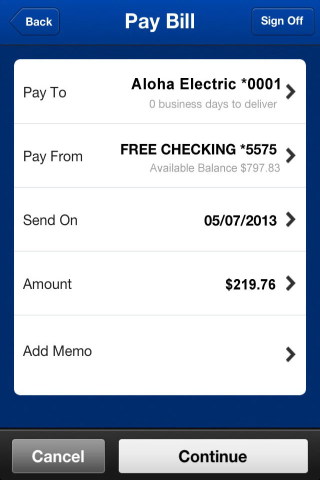 BOH Mobile Banking- screenshot