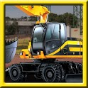 Excavator Construction parking icon