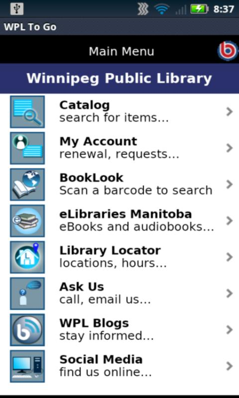Winnipeg Public Library- screenshot