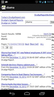 Drudge Report on Droid - screenshot thumbnail
