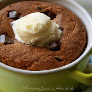 Cookies in Ramekins with Vanilla Ice Cream.