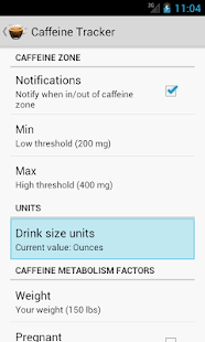 Caffeine Tracker- screenshot thumbnail
