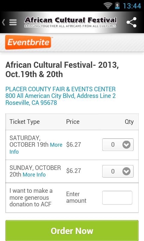 African Cultural Festival- screenshot