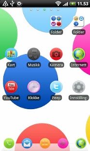 Colorful Circle GO Launcher EX - screenshot thumbnail