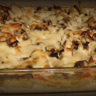 Potato Chicken and Mushroom Casserole.