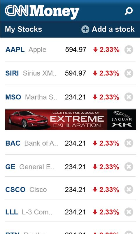 CNNMoney Business and Finance - screenshot