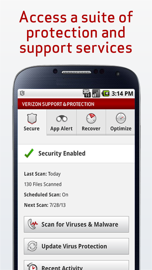 Verizon Support & Protection - screenshot