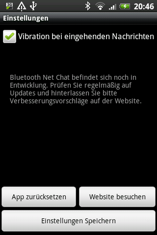 Bluetooth Net Chat- screenshot
