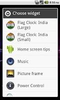 Screenshot of India flag Analog Clock