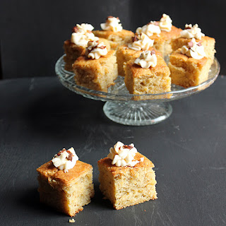 Swede (Rutabega) Nutmeg Cake with Brown Butter Frosting and Salted Hazelnuts Recipe