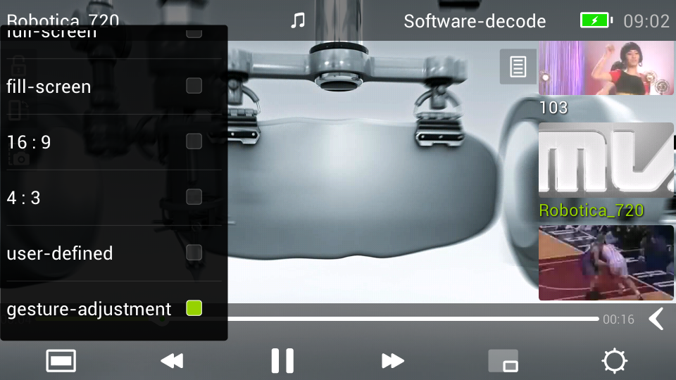 MoboPlayer 2.0 - screenshot