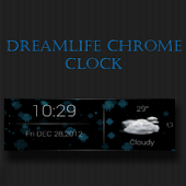 Dreamlife Chrome Clock