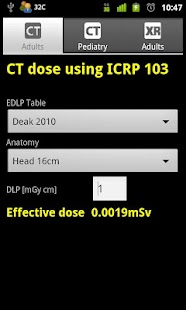 CT and XR Dose Calculator