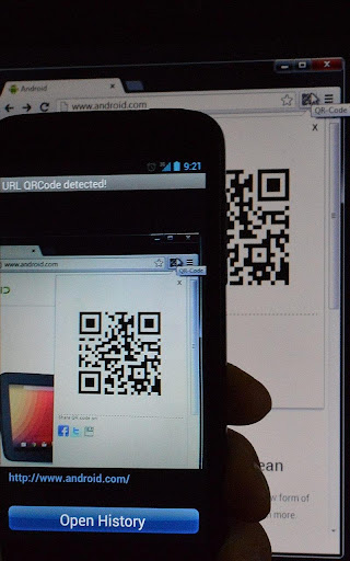 URL from QRCode to browser