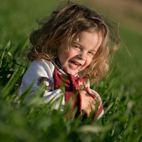Spring joy by Sabin Malisevschi - Babies & Children Children Candids ( kids in the summer, field, wheat, kids playing in summer, blonde, green, kidsofsummer, baby, smile, boy, kid )