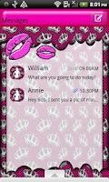 Screenshot of GO SMS THEME/PrincessKisses1
