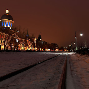 Montreal's old port. by Faisal Abuhaimed - Buildings & Architecture Public & Historical