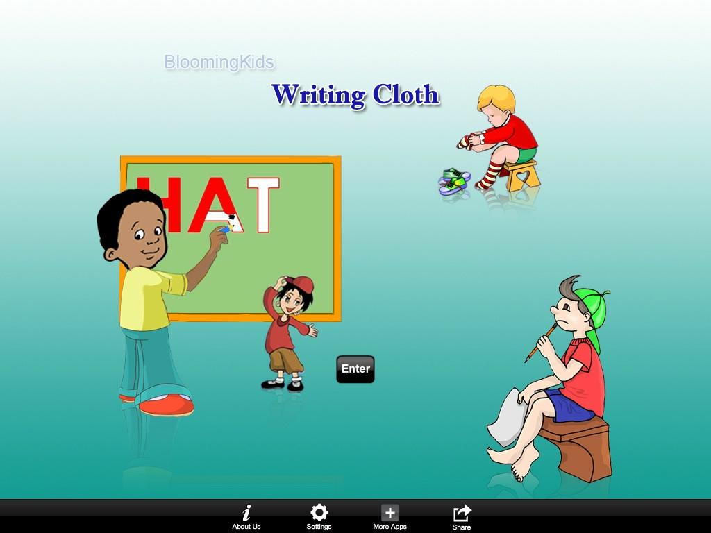 Writing Cloth Word- screenshot