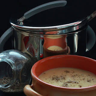 Mushroom and Saffron Soup.