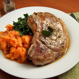 Brown Butter Balsamic Pork w/ Sweet Potatoes & Kale