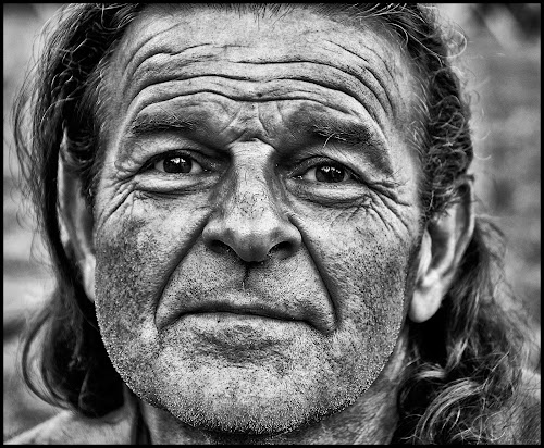Black bison by Etienne Chalmet - Black & White Portraits & People ( black and white, street, men, people, portrait,  )