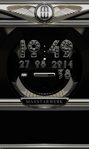 Clock Widget Black Diamond